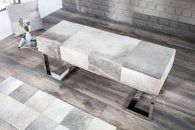 Dizajnová lavica Ralph 110 cm sivá