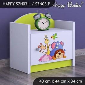 Nočný stolík Happy Lemon Vzor03 všetky motívy