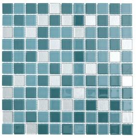 Sklenená mozaika Premium Mosaic tyrkysová 30x30 cm lesk MOS25MIX12