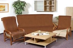 Brotex Prikrývka na sedaciu súpravu Kira PLUS 3+1+1 hnedá/béžová