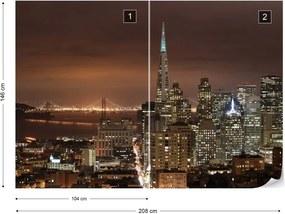 Fototapeta GLIX - San Francisco City Skyline 2 + lepidlo ZADARMO Vliesová tapeta  - 254x184 cm