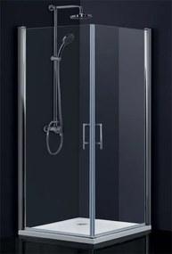 HOPA - sintra bez vaničky, chrom, sklo frost, 80 × výška 195 cm, pravé provedení (BCMADE280CFP)