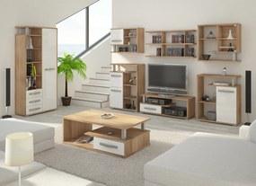 MEBLOCROSS Angel obývacia izba sonoma svetlá / biely lesk