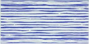 Dekor Fineza Happy modrá 20x40 cm lesk DHAP40BL