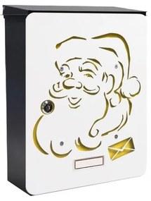 MIA box Santa Claus Y - poštová schránka s výmenným krytom a menovkou, Santa Claus