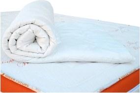 Biela ochranná podložka na matrac s vlnou merino Lana Green Future, 160 x 200 cm
