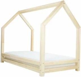 FUNNY detská posteľ, Veľkosť 120 x 200 cm, Farba transparentná vosková lazúra matná