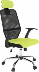 Kancelárske kreslo, zelená/čierna, REYES NEW