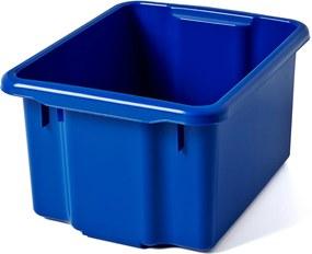 Úložný box, Š 295 x D 365 x V 200 mm, 15 L, modrý