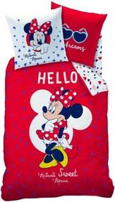 CTI, Francúzsko Detské obliečky Minnie Hello, Rozmer 1x70x90 / 1x140x200 cm