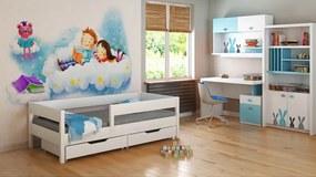 LU MIX 180x90 Biela detská posteľ