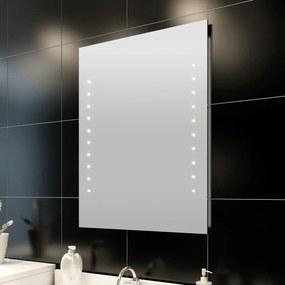 vidaXL Kúpeľňové zrkadlo s LED svietidlami 50 x 60 cm (D x V)