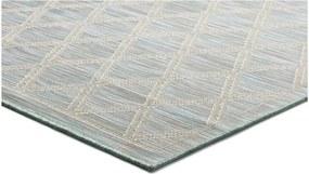 Tyrkysovomodrý koberec Universal Kiara vhodný i do exteriéru, 150 x 80 cm