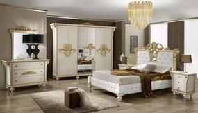 Bighome - Spálňa DESIRO - biela, zlatá