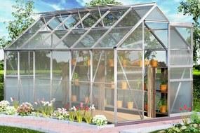 Záhradný skleník - 380x190x195cm - plocha 7,22 m² - objem 11,73 m³