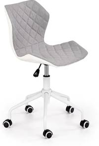 HALMAR Matrix 3 detská stolička na kolieskach biela / sivá