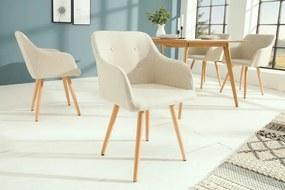 Dizajnová stolička Norway krémová