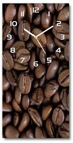 Moderné hodiny nástenné Zrnká kávy pl_zsp_30x60_f_88786917