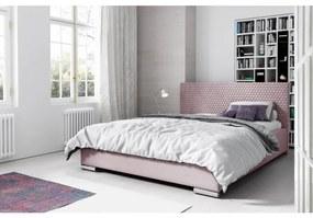 Elegantná čalúnená posteľ Champ 120x200, ružová