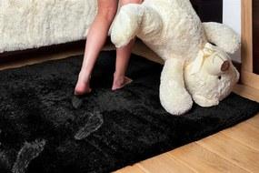 MAXMAX Detský plyšový koberec ČIERNY
