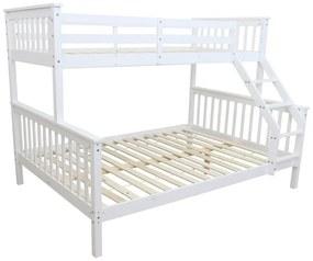 TEMPO KONDELA Bagira 90/140 poschodová posteľ 90/140x200 cm biela