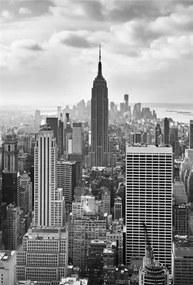 Vliesové fototapety, rozmer 124 cm x 184 cm, New York Black and White, Sunny Decor SDNW323