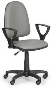 EUROSEAT Pracovná stolička Torino s podpierkami rúk, sivá