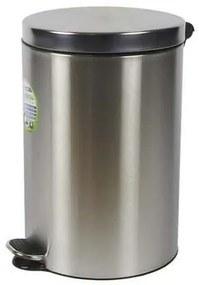 Kovové odpadkové koše Basic, objem 20 l, Kapacita: 20 L, Materiál: matné antikoro, Farba: Sivá/striebro, Typ: nášľapný, Výška: 450 mm, Hmotnosť: 2.3 k