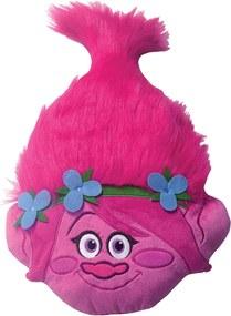 CTI 3D hlava vankúšik Trolls (Trollovia) Poppy head 33x54 cm