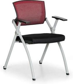 Konferenčná stolička Rest, červená