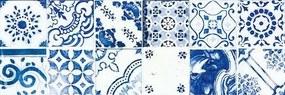 Dekor Rako Majolika modrá 20x60 cm lesk WARVE146.1