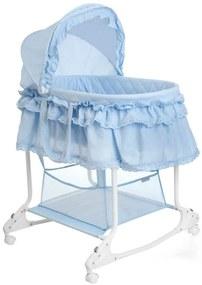 414970 Little World Kolíska 2-v-1, 85x70x110 cm, modrá, LWFU002-LBL