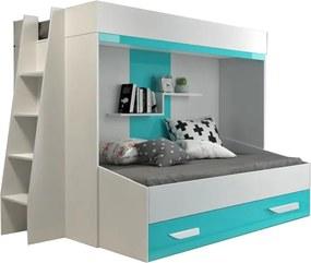 SB Multifunkčná poschodová posteľ Party 17 Farba: Tyrkysová