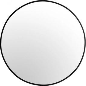 Tutumi Guľaté zrkadlo Loft SLIM 70 cm čierne