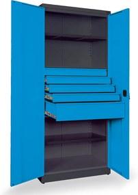 NABBI SN880/2S1 skriňa na náradie so zámkom grafit / modrá