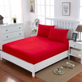 HOD Plachta Jersey Červená Bavlna+Elastan Varianty rozmerov Rozmer: 160 x 200