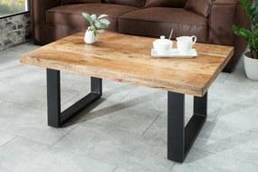 Konferenčný stolík Iron Craft 100 cm prírodné mango
