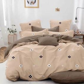 HOD Posteľné obliečky CHILL CAPPUCCINO Balenie: 3 dielna súprava