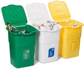 Kôš na triedený odpad Eco 3 Master 50 l, 3 ks