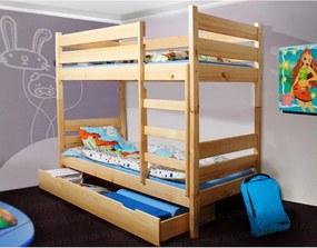 LTD 200x90 Borovica poschodová posteľ