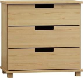 AMI nábytok Komoda Modern borovice 80x80x42 cm