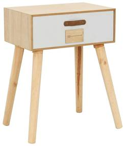 vidaXL Nočný stolík so zásuvkou 44x30x58,5 cm masívne borovicové drevo