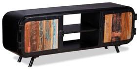 vidaXL TV stolík z  recyklovaného dreva, 120x30x45 cm