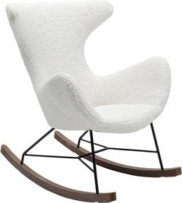 Biele hojdacie kreslo Kare Design Balance