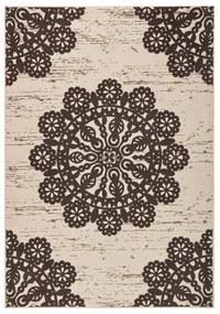 Hnedý koberec Hanse Home Gloria Lace, 200 x 290 cm