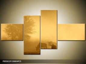 Obraz na plátne Stádo pakoňov, Obdĺžnik 120x80cm 87,92 €