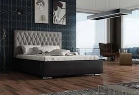 Expedo Čalouněná postel REBECA + rošt, Siena04 s knoflíkem/Dolaro08, 180x200