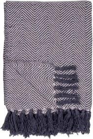 Čierno-biela deka House Nordic Cort, 170 × 130 cm