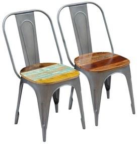Jedálenské stoličky 2 ks, recyklovaný masív 47x52x89 cm