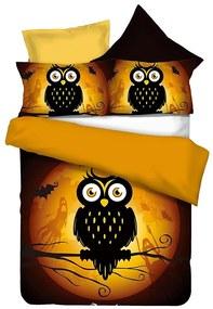 Obliečky z mikrovlákna DecoKing Owls GHOSTSTORY s nápisom HAPPY HALLOWEEN